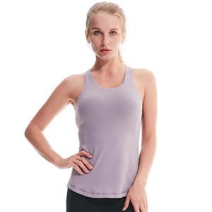 LU Femmes Jogging Tanks Hauts cultures Noir Blanc Gris évidant Gilets de yoga exercice actif Vêtements soutiens-gorge rembourrés 60lyd E19
