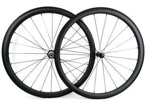 Sprint súper ligero Ruedas de carbono para escalada 38 mm de profundidad 25 mm de ancho remachador / Rueda de carbono de bicicleta de carretera tubular UD acabado mate