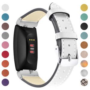 호환 가능한 Fitbit Inspire Inspire HR 밴드 정품 가죽 랩 팔찌 스트랩 Fitbit Inspire / Inspire HR Fitness를위한 스레드 설계
