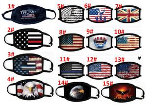 15 Estilos Trump 2020 máscara máscaras a prueba de viento la boca de algodón anti-polvo unisex bandera americana Elección Estados Unidos águila máscara de la máscara Negro Moda