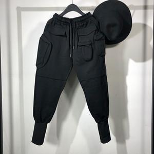 Owen Seak Men Casual Harem Pants High Street Wear Hip HOP Cargo Ankle Length Pants Men's Clothing Sweatpants Spring Black