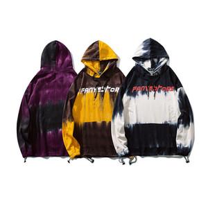 Mens женщин Граффити Пуловер толстовка Tie Dye Мода Streetwear пиджаки Harajuku Hip Hop Повседневные Крупногабаритные толстовки