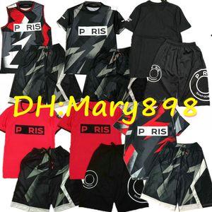 Super buona qualità 2020 Maglia 2021 di Parigi di calcio 23 aj maglia + pantaloncini jersey di calcio della camicia del camuffamento pantaloncini 16 Style T-shirt + shorts kit