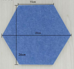 Okologisches 100% PET Filz Polyester-Faser 3D Wand Dekorakustikwolleplatte Akustikschaum dekorative Hexagon Wand decoratived Panel