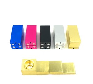 2019 Manufacturer's Direct Sale Creative Geometric Magnet Small Pipe Aluminum Folding Whistle Molding Pipe Metal Smoke Fittings