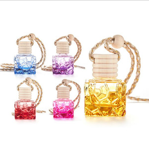 HOT Colorful square portable mini glass bottle perfume bottle thick empty bottle car modern decoration Homeware DHB327