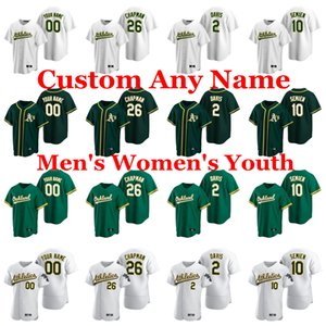 Mens 2020 Stagione di baseball maglie Matt Chapman Jersey Khris Davis Marcus Semien Chris Bassitt Paul Blackburn Jake Diekman personalizzato cucito