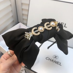 2020 Woman Hair accessoriesClassic cute NEW color English letters cross wide-edge non-slip durable hoop bow hairpin jewelry wash face BB223