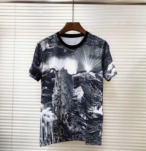 2019 NEUE sommer casual herren t shirts top qualität mode 3 d die landschaftsmalerei druck kurzarm männer t tops männer T-sh