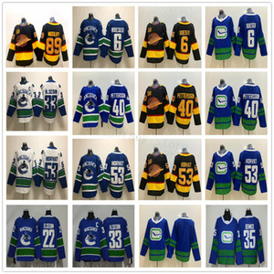 50 New Vancouver Canucks Jerseys Hockey 40 Elias Pettersson 53 Bo Horvat 6 Brock Boeser 35 Thatcher Demko 22 Daniel 33 Henrik Sedin
