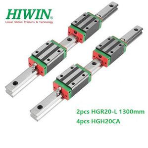 2 pz Originale Nuovo HIWIN HGR20 - 1300mm guida lineare / rail + 4 pz HGH20CA blocchi stretti lineari per parti del router di cnc
