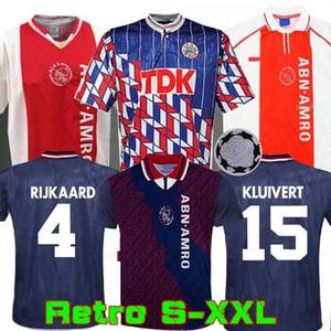 1994 1995 Ajax retro soccer jersey 94 95 RIJKAARD KLUIVERT LITMANEN SEEDORF DAVIDS OVERMARS 04 05 football 1989 1990 shirt 2004 BABEL 1998