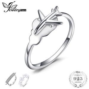 Jewelrypalace 925 sterling silber global flugzeug reise weltkarte offen einstellbarer ring für frauen neue heiße verkauf als schönes geschenk