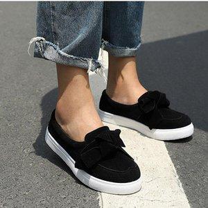 Kadın Flock Makosenler Casual Bowknot ayakkabı dikim Papyon Düz Ayakkabı günü 2020 MCCKLE Kadınlar Loafers Artı boyutu Platformu Kayma