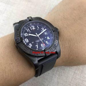 Hochwertige Uhr Colt Skyracer Schwarz PVD 45MM Automatische Herrenuhr Schwarzes Zifferblatt Kautschukband Herrenuhren