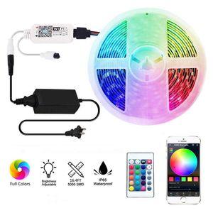 Led luci di striscia, Wifi mobile, Smart phone App controllati sincronia con la musica 16 .4ft Rgb luci 5050 LED compatibile con Alexa, Home page di Google