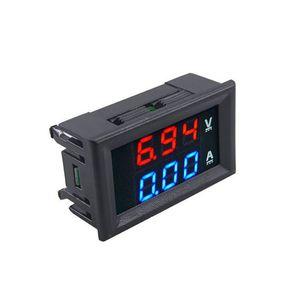 "Mini Dijital Voltmetre Ampermetre DC 100 V 10A Panel Amp Volt Gerilim Akım Ölçer Test Cihazı Dedektörü 0.56 ""Çift LED Ekran Oto Araba"