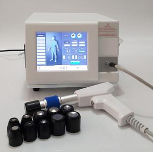 Máquina de onda de choque de presión de aire portátil para el tendón de descarga de choque de dolor con 6 barras ED Terapia de onda de descarga Eréctil Disfunción eléctrica