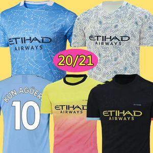 Üst Tayland İSA DE BRUYNE KUN AGUERO manchester futbol formaları şehir 2019 2020 SANE forması 19 20 futbol KITI gömlek yetişkin ve çocuklar setleri
