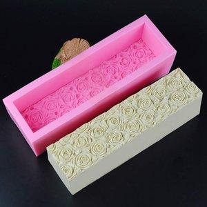 Nest Toast Silikon-Form-Handgemachte Seifen-Form-DIY Toasts rechteckiger Kasten-Seifen-Form Big Geprägte Laibwanne Toast Seifenherstellung Mold C