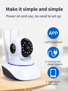كاميرا 720P واي فاي IP 360 درجة منزل بانورامي كاميرا أمن الشبكات اللاسلكية شبكة الفيديو مراقبة CCTV كاميرا الأشعة تحت الحمراء للرؤية الليلية مراقبة الطفل