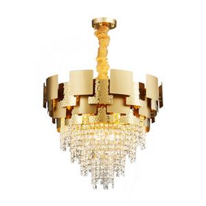 Современная роскошь Круглый золото Металл Кри Light Home Hotel Art Гостиная Подвеска Свет PA0624