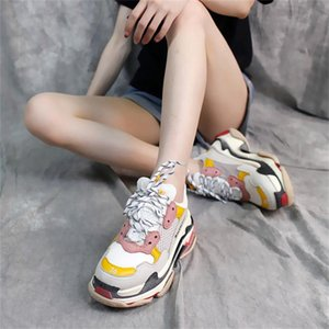 17FW Paris Retro DSM Fashion Luxury Dad Shoes Basket Grandpa Daddy Triple S Basket Men Women Running Canvas Shoes 36-45