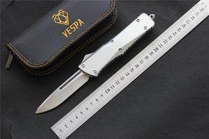 Yüksek kaliteli VESPA Bıçak Bıçak: D2 (S / E Saten) 6 renk Sap: Alüminyum, Açık kamp sağkalım EDC araçları Bıçaklar, ücretsiz nakliye