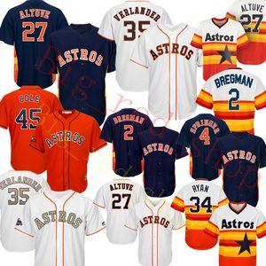 Günstige 27 Jose Altuve 35 Justin Verlander Trikot 45 Gerrit Cole 2 Alex Bregman Baseball-Shirts