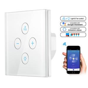 Alexa Google Ana Y200407 için WiFi Akıllı Tavan Fan Işık Duvar Anahtarı Yaşam Tuya APP Uzaktan Çeşitli Hız Kontrolü Engelleyici Uyumlu