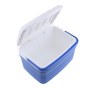 8L Blue Car Portable Heat & Cold Preservation Box Cooler Thermal Fishing Box Bin Medicine Container
