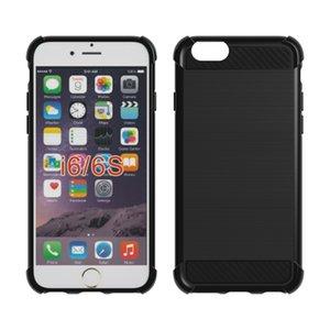 Silicone Case fibra de carbono Textura à prova de choque tampa protetora Slim Fit suave TPU para o iPhone 7 7 PLUS 8 iPhone iPhone 6 6S 8 PLUS