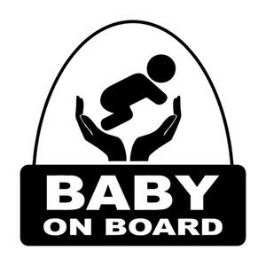 15.9*15.9CM Creative Cartoon BABY ON BOARD Warning Car Sticker Vinyl Decal Bumper Window Decoration Car decor