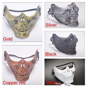 Máscara Guerreiro Caveira tático partido da caça do Halloween Costume Masquerade meia máscara Máscara Jogo Cosplay Prop Outdoor Proteção Militar