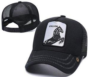 Designer de luxo tampas GARANHÃO chapéu Marca de Prata Fox Sólida Cap homens mulheres osso snapback Ajustável ROO Casquette golf animal boné de beisebol