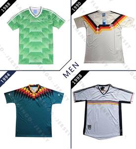 1988 1990 1994 ريترو جيرسي لكرة القدم ألمانيا 98 منزل الأبيض خمر جيرسي لكرة القدم قميص كرة القدم الكلاسيكية