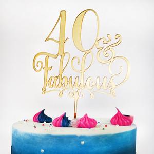 40 Favoloso Cake Topper 40th Fortieth Birthday Party Topper Anniversary Cake Decorations Accessori Accessorio