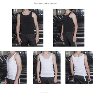 Toptan erkek Ince Nem Eksi Bira Göbek Şekillendirme Iç Çamaşırı Karın Vücut Şekillendirici Yelek Şekillendirme Vücut Şekillendirici T-shirt