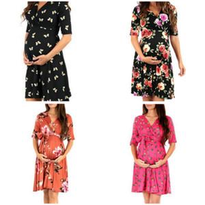 Hamile kadınlar yaz elbise 2019 moda V Yaka giyim anne gündelik giyim doğum sonrası kadınlar 1AR510DS-13R giymek
