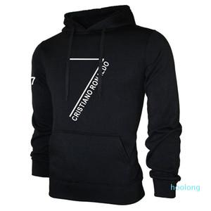크리스티아누 호날두 후드 남성 긴 소매 풀오버 스웨터 CR7은 스웨터 힙합 Streatwear 느슨한 스포츠 정장 운동복을 인쇄 쿨