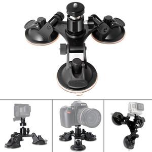 3 Bein Auto Saugnapf Halter Dreieck + Mini Stativkopf Adapter für Go Pro 6 5 4 3+ SJCAM Xiaomi Soocoo Kameras