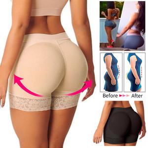Женщины Booty проложенного управления Panty Butt Lifter и Hip Enhancer Бесшовного Boyshorts белье дышащего Push Up Фальшивая Big Ass Butt Body Shaper