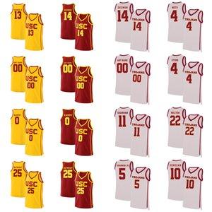 USC 트로이 목마 셔츠 브라이언 Scalabrine 저지 Cheryl 밀러 Lisa 레슬리 닉은 젊은 Matt Miller2020 년 남자 농구 유니폼 사용자 정의 바느질