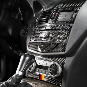 메르세데스 C 종류 W204 탄소 섬유 실내 손질 출구 CD 공기조화 중앙 제어 패널 차 스티커와 전사술을 위해