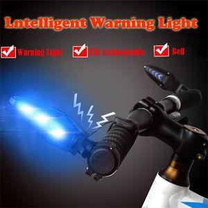 USB Cycleing Bicycle CYCLEING MTB Handlebar Grip Bar End With LED Light Warni for bicycle supplies cycle light