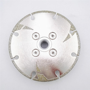 D105-125mm 5 Pieces Electroplated Diamond Cutting Grinding Disc M14 Flange With Protection Coated Diamond Blade Granite Marble