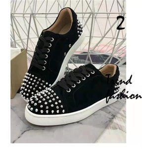 Color Design Fashion Luxury Men &#039 ;S Red Bottom Shoes Spikes Low -Top Casual Leather Sneakers Men &#039 ;S Wedding Banquet Dress Luxury