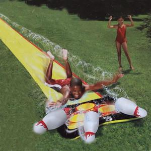 Poolzubehör super riesige wasserschein und schieber mit eingebautem body board schlauch ansatz kinder gard spiele outdoor lust spielzeug
