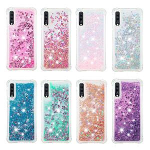 Cassa del telefono Quicksand liquido per Samsung A70 A50 A30 A20 A7 2019 Copertura della cassa di paillettes Glitter antiurto per Samsung Galaxy S10 S9 plus M30 A10