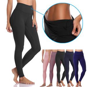 Seamless Yoga Leggings Athletic Fitness Leggings Women Stretchy High Waist Push Up Yoga Pants Gym Sports Tights Inner Pocket